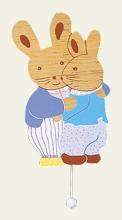 Boîte à Musique Deux Lapins