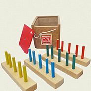 Le jeu de la boite à trou carree