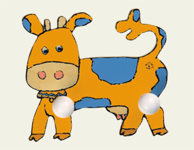 Portemanteau Vache